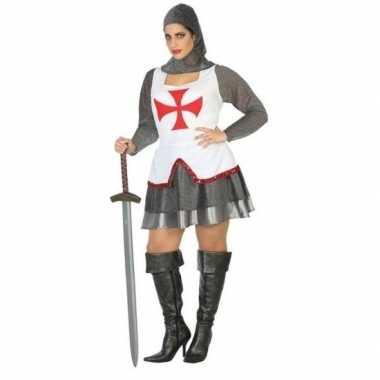 Ridder/kruisvaarder carnavalspak/set dames