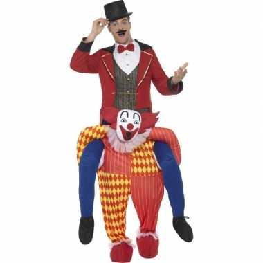 Ride on carnavalspak clownspak volwassenen