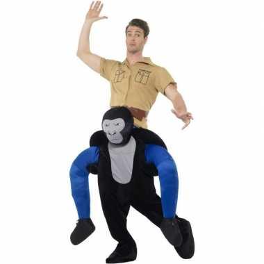Ride on dierenpak carnavalspak gorilla volwassenen