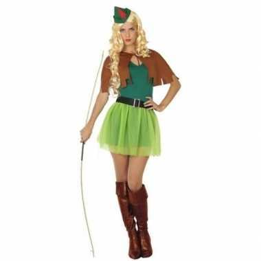 Robin hood carnavalspak groen/bruin dames