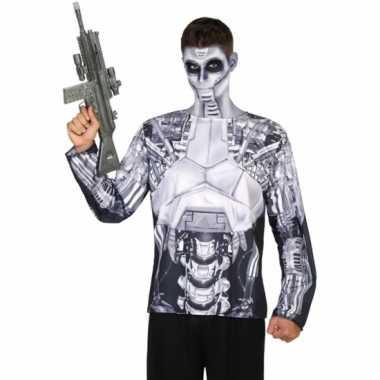 Robot shirt verkleedcarnavalspak