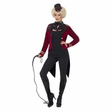 Rode circusdirecteur carnavalspak dames