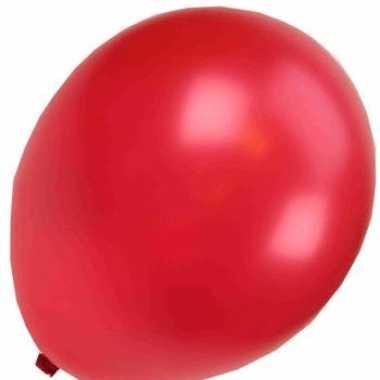Rode metallic carnavals ballonnen