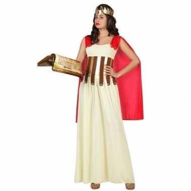 Romeins/grieks carnavalspak/set wit/goud/rood dames