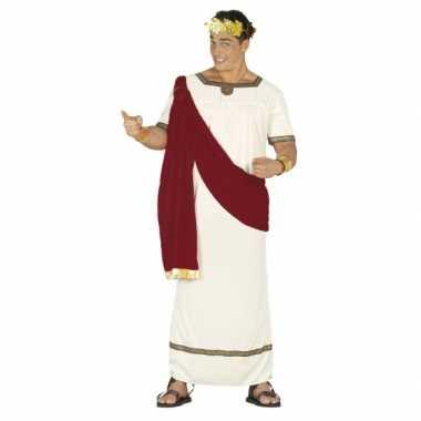Romeinse keizer carnavalspak rood wit