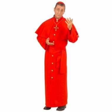 Rood kardinaal carnavalspak mannen