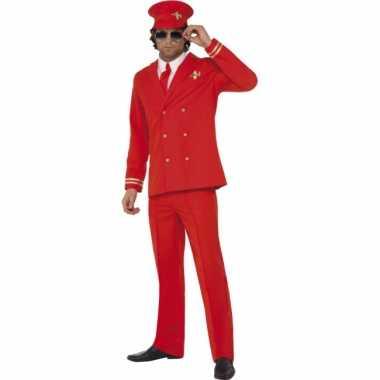 Rood piloten carnavalspak