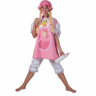 Roze baby carnavalspak volwassenen