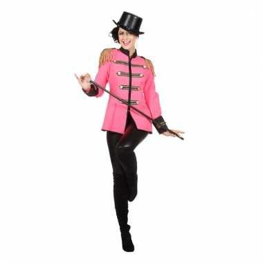 Roze carnavalspak jas dames