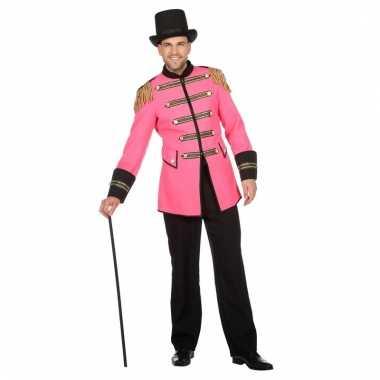 Roze carnavalspak jas heren