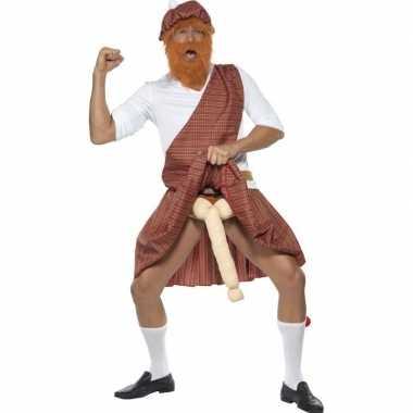 Schotse kilt piemel carnavalspak for heren