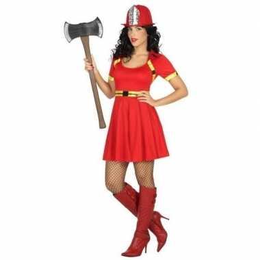 Sexy brandweer carnavalspak/jurkje dames