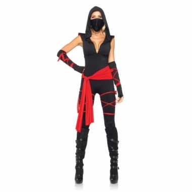 Sexy ninja carnavalspak dames