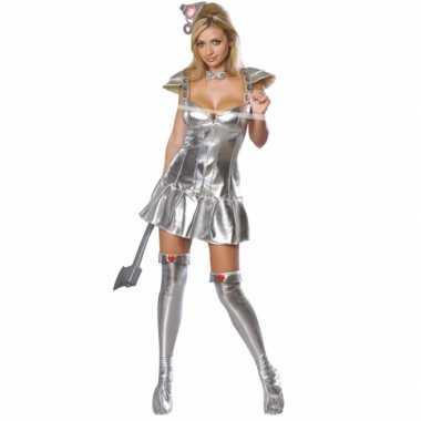 Sexy zilveren blikken vrouw carnavalspak