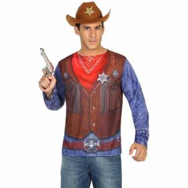 Sheriff shirt verkleedcarnavalspak