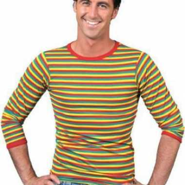 Shirt carnavalskleuren heren