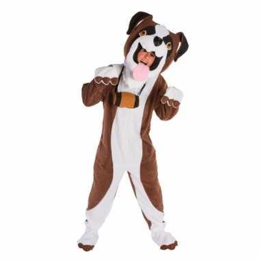 Sint bernard honden carnavalspak masker