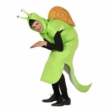Slakken carnavalspak groen volwassenen