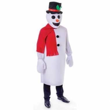Sneeuwpop carnavalspak volwassenen