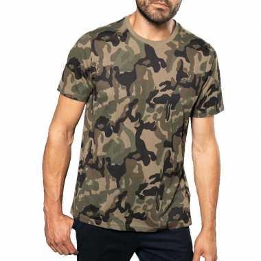 Soldaten / leger carnavalspak camouflage shirt heren
