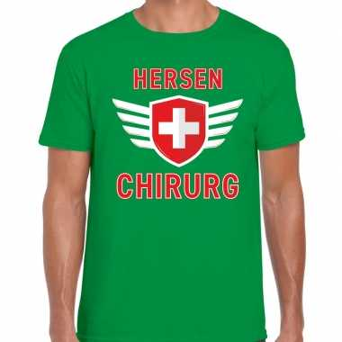 Specialist hersen chirurg verkleed shirt carnaval groen heren