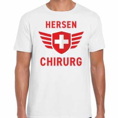 Specialist hersen chirurg verkleed shirt carnaval wit heren