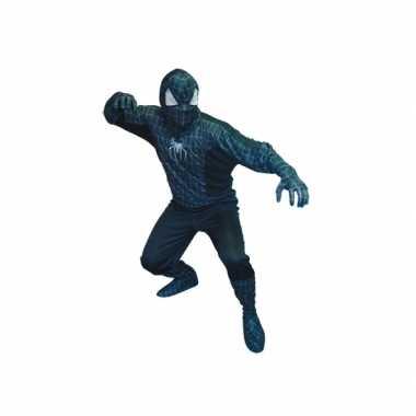 Spinnenhelden carnavalspak zwart heren