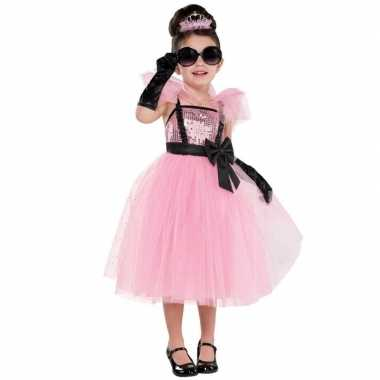 Sprookjes prinses/prinsessen jurk feest carnavalspak meisjes