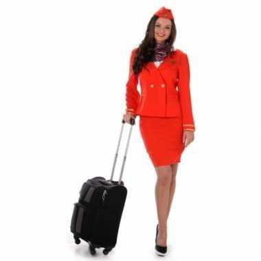 Stewardessen carnavalspak rood
