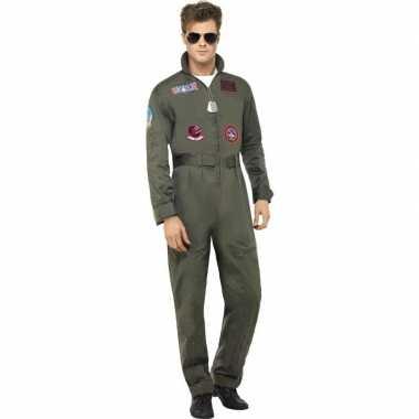 Straaljager piloten carnavalspak heren