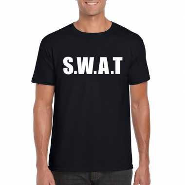 Swat carnaval t shirt zwart heren
