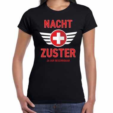 Verpleegster verkleed shirt nacht zuster uur beschikbaar carnaval zwa