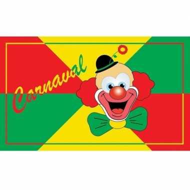 Vlag carnavals clown