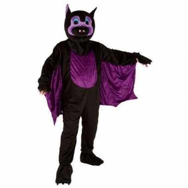 Vleermuis carnavalspak groot pluche masker