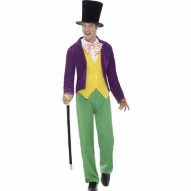 Willy wonka carnavalspak heren