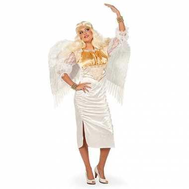 Wit engel carnavalspak dames