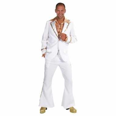 Witte disco carnavalspaks heren