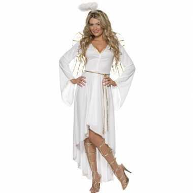 Witte engel carnavalspak dames