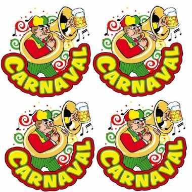 X carnaval raamsticker muzikant