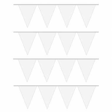 X carnaval vlaggenlijn wit meter