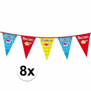 X plastic carnaval vlaggenlijnen