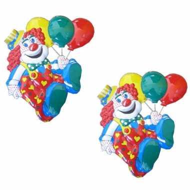 X stuks carnaval decoratie schild clown ballonnen