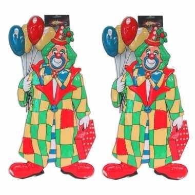X stuks clown carnaval decoratie ballonnen