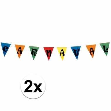 X vlaggenlijn carnaval meter