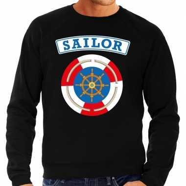 Zeeman sailor carnaval verkleed trui zwart heren