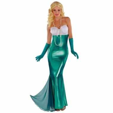 Zeemeerminnen jurk thema feest carnavalspak carnaval dames