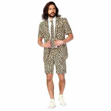 Zomercarnavalspak luipaard heren