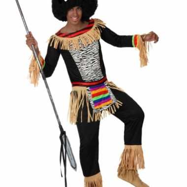 Zulu carnavalspaks heren