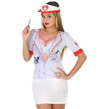 Zuster shirt verkleedcarnavalspak dames