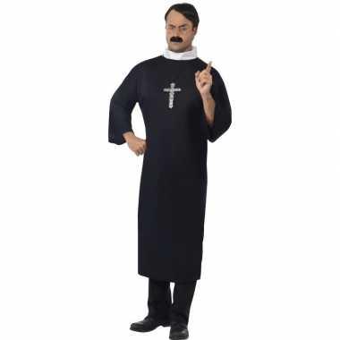Zwart priester carnavalspak heren
